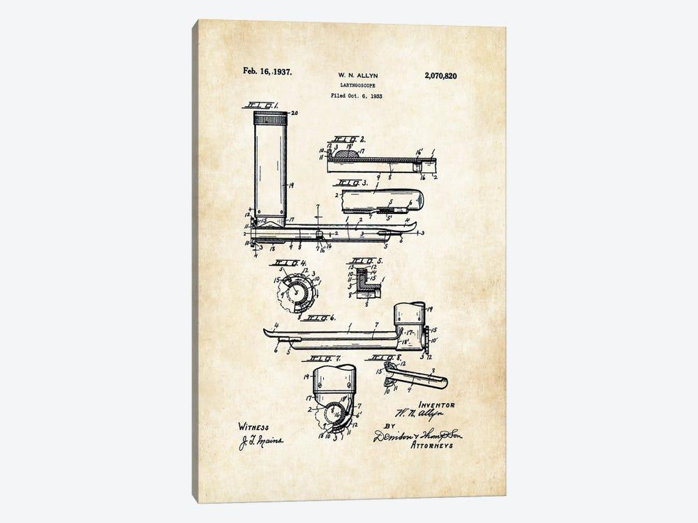 Doctor Laryngoscope by Patent77 1-piece Canvas Artwork