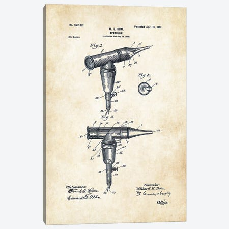 Doctor Otoscope Canvas Print #PTN80} by Patent77 Canvas Art Print