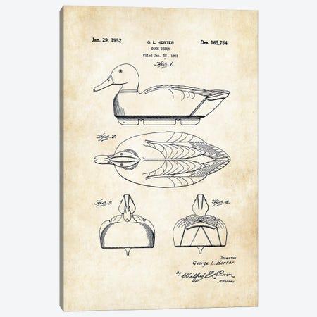 Duck Decoy Canvas Print #PTN84} by Patent77 Canvas Artwork