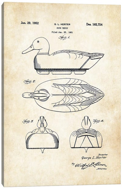 Duck Decoy Canvas Art Print