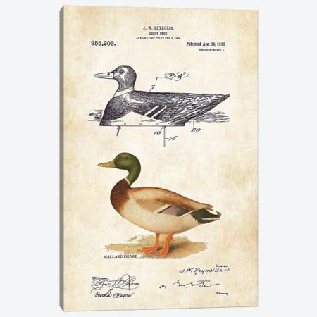 Duck Decoy Canvas Print #PTN86} by Patent77 Canvas Artwork