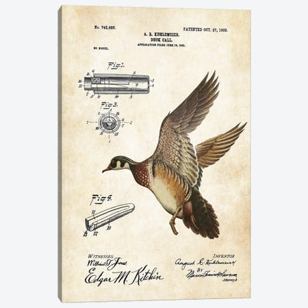 Duck Hunting  Canvas Print #PTN88} by Patent77 Art Print