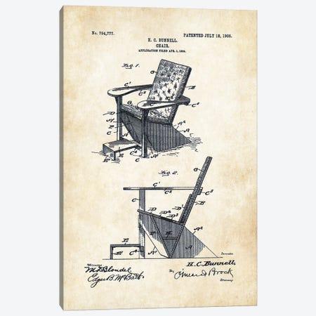 Adirondack Chair Canvas Print #PTN8} by Patent77 Canvas Art