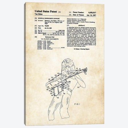 Eddie Van Halen Guitar Canvas Print #PTN91} by Patent77 Canvas Wall Art