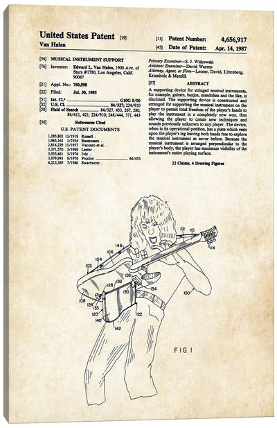 Eddie Van Halen Guitar Canvas Art Print