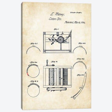 Eli Whitney Cotton Gin Canvas Print #PTN96} by Patent77 Canvas Print