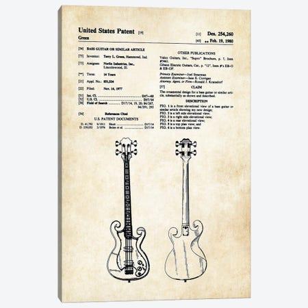 Epiphone Scroll Bass Guitar Canvas Print #PTN97} by Patent77 Art Print