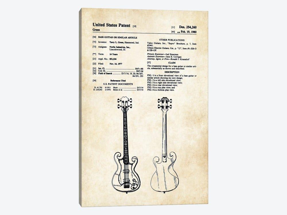 Epiphone Scroll Bass Guitar by Patent77 1-piece Art Print