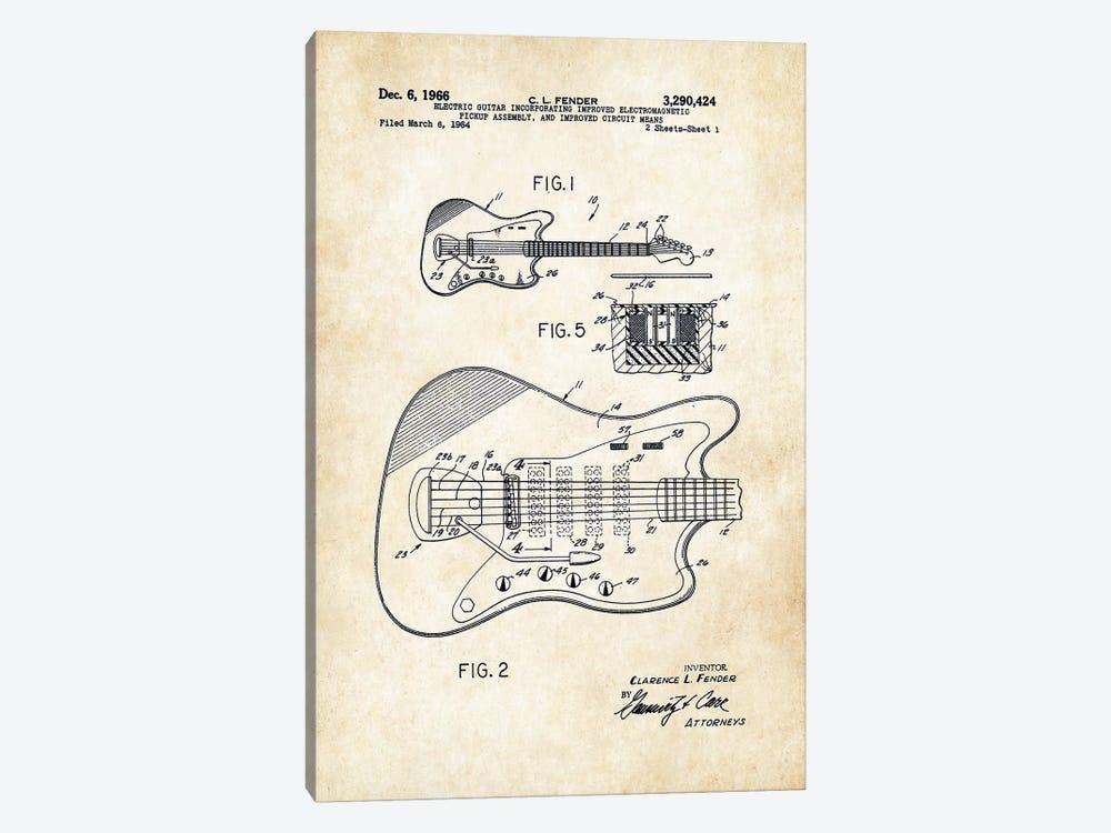 Fender Guitar (1966) by Patent77 1-piece Canvas Print