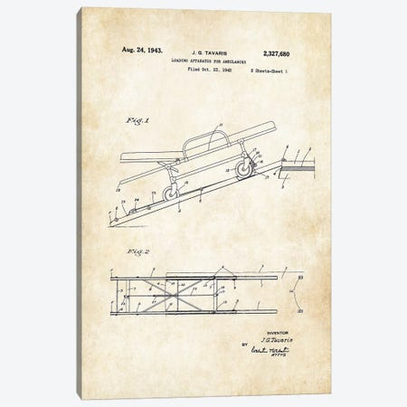 Ambulance Stretcher (1943) Canvas Print #PTN9} by Patent77 Canvas Artwork