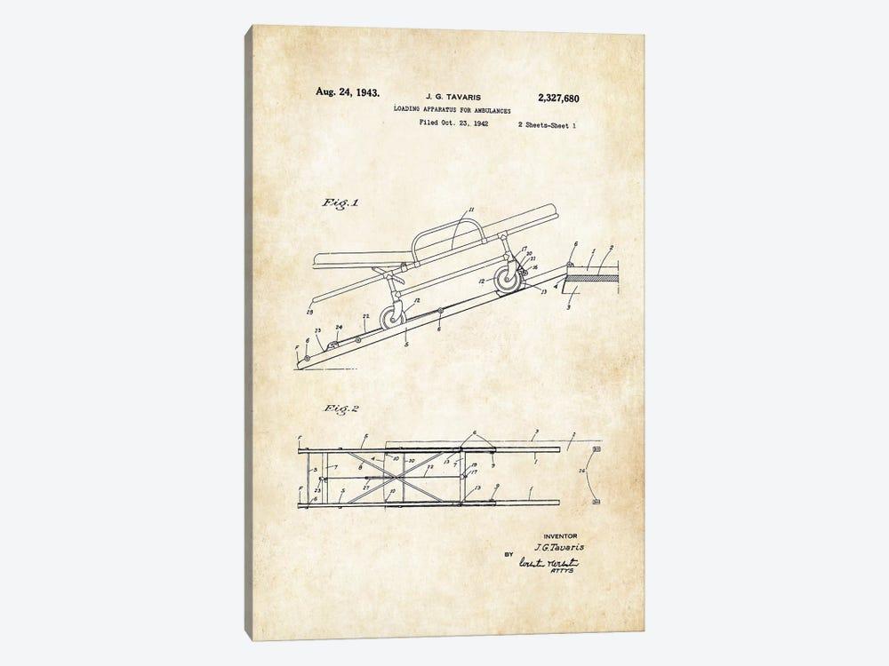 Ambulance Stretcher (1943) by Patent77 1-piece Canvas Wall Art