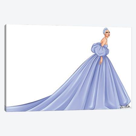 Lady Gaga - Valentino Canvas Print #PTO10} by PietrosIllustrations Art Print