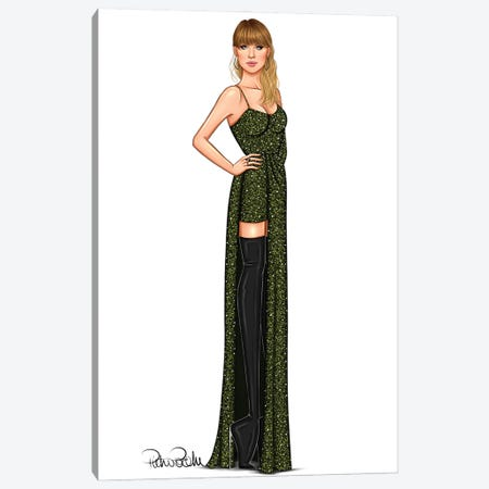 Taylor Swift - Snake Girl Canvas Print #PTO11} by PietrosIllustrations Canvas Art Print