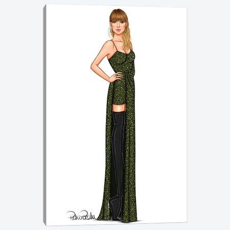 Taylor Swift - Snake Girl Canvas Print #PTO11} by PietrosIllustrations Canvas Art Print