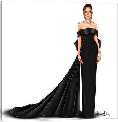 Jennifer Lopez - Lady In Black Canvas Art Print