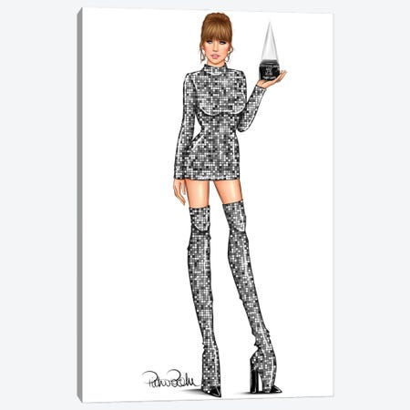 Taylor Swift- Balmain Pop Girl Canvas Print #PTO15} by PietrosIllustrations Canvas Wall Art