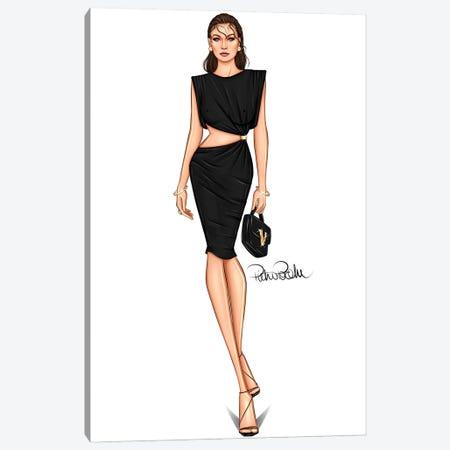 Runway - Gigi Hadid X Versace Canvas Print #PTO17} by PietrosIllustrations Canvas Artwork