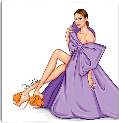 Gigi Hadid - Purple Valentino Canvas Art Print