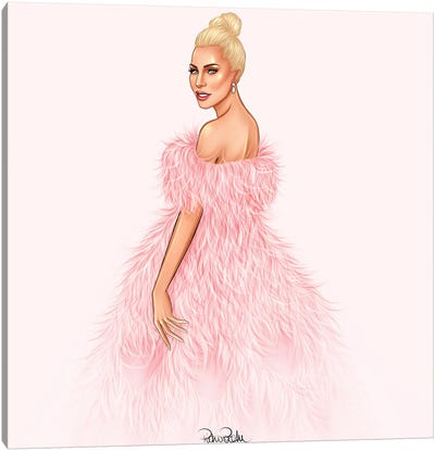Lady Gaga - A Star Is Born In Valentino Canvas Art Print