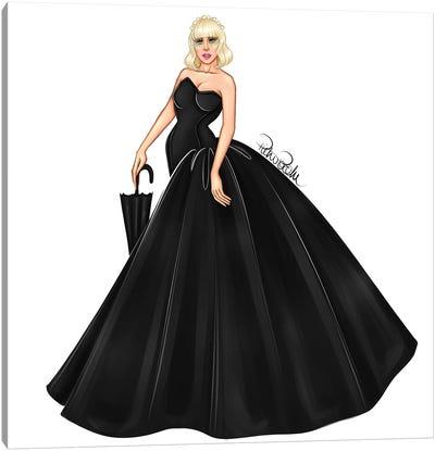 Lady Gaga - Black Canvas Art Print