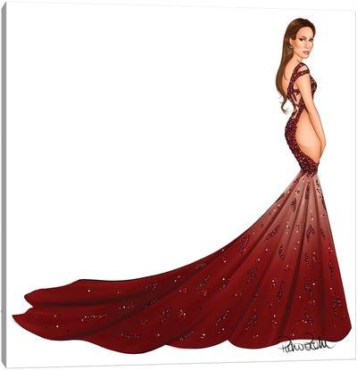 Jennifer Lopez - Versace Dragon Canvas Art Print