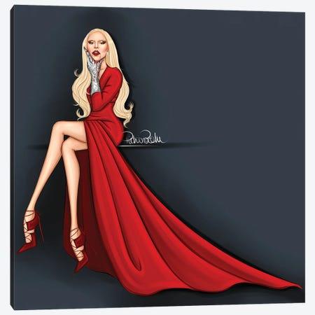 Lady Gaga - The Countess Ahs Canvas Print #PTO26} by PietrosIllustrations Canvas Print
