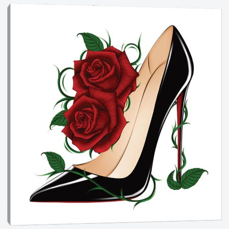 Louboutin Roses - So Kate Canvas Print #PTO27} by PietrosIllustrations Canvas Art Print