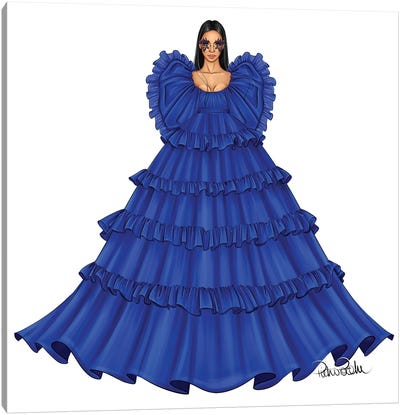 Blue Valentino Canvas Art Print
