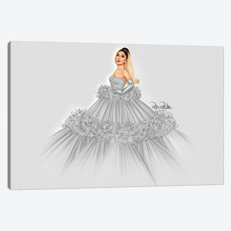 Ariana Grande - Giambattista Valli Canvas Print #PTO2} by PietrosIllustrations Canvas Art Print