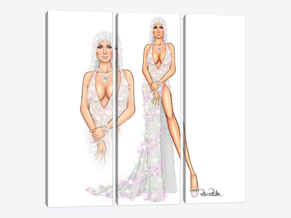 Jennifer Lopez - Versace Mermaid by PietrosIllustrations 3-piece Canvas Print