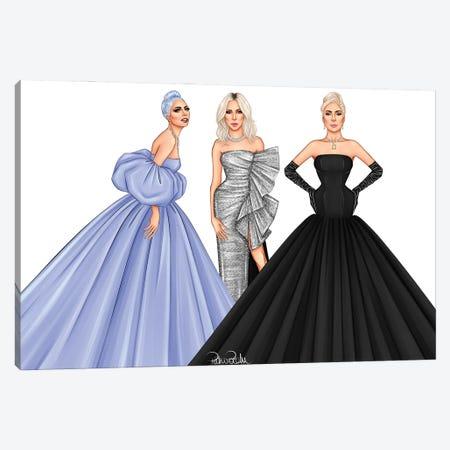 Lady Gaga - The Trinity Canvas Print #PTO32} by PietrosIllustrations Art Print