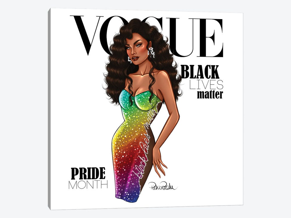 VOGUE - Black Lives Matter - Pride Month by PietrosIllustrations 1-piece Canvas Wall Art