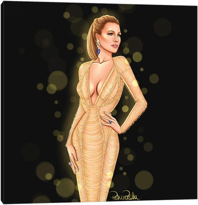 Blake Lively - Wonderland In Versace Canvas Art Print