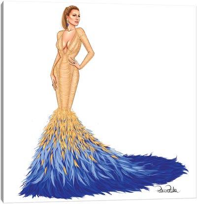 Blake Lively - Met Gala In Versace Canvas Art Print