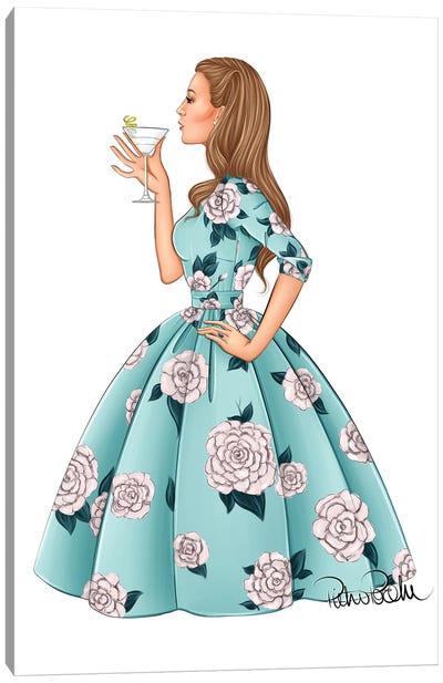 Blake Lively - Fashion Party Girl Canvas Art Print