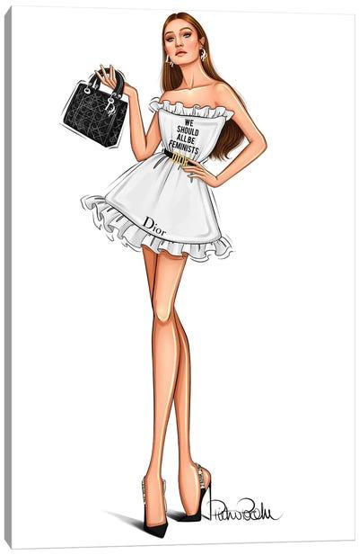 Gigi Hadid - Lady Dior Canvas Art Print