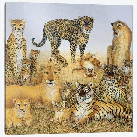 The Big Cats Canvas Print #PTS15} by Pat Scott Canvas Art