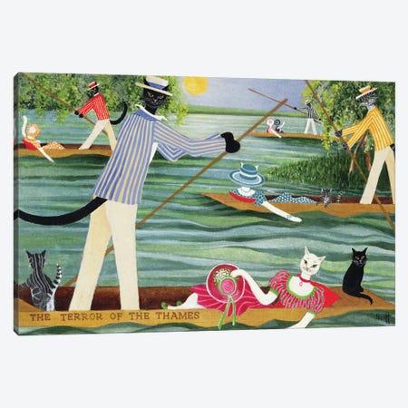 Those Summer Punts Canvas Print #PTS18} by Pat Scott Art Print