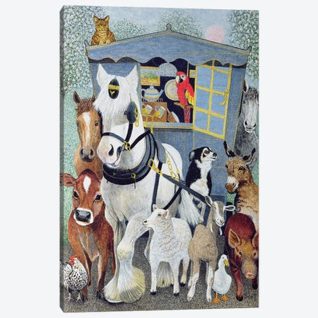 Uncle Tom Cobbley And All Canvas Print #PTS20} by Pat Scott Canvas Artwork
