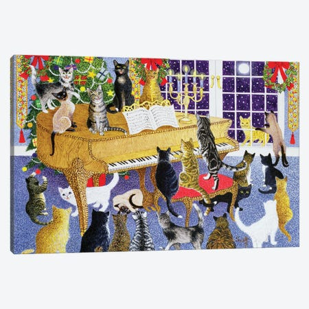 Christmas Chorus Canvas Print #PTS8} by Pat Scott Canvas Wall Art