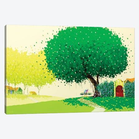 Summer Landscape Canvas Print #PTT11} by Phan Thu Trang Canvas Artwork