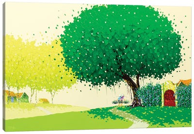Summer Landscape Canvas Art Print