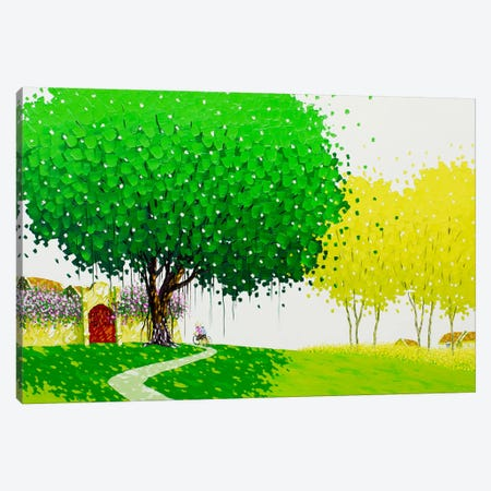 The Country Road Canvas Print #PTT12} by Phan Thu Trang Canvas Art