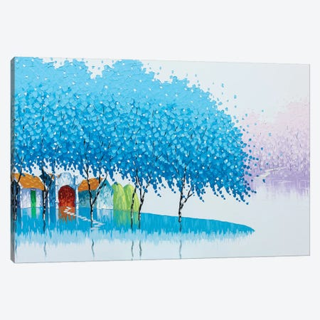 Winter Landscape Canvas Print #PTT13} by Phan Thu Trang Canvas Art