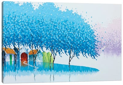 Winter Landscape Canvas Art Print