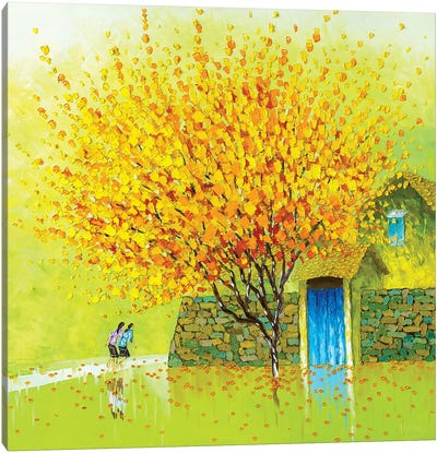 Golden Season Canvas Art Print