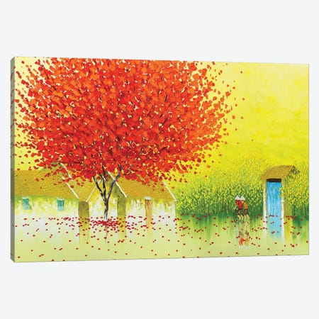 Summer Rain Canvas Print #PTT21} by Phan Thu Trang Canvas Art Print