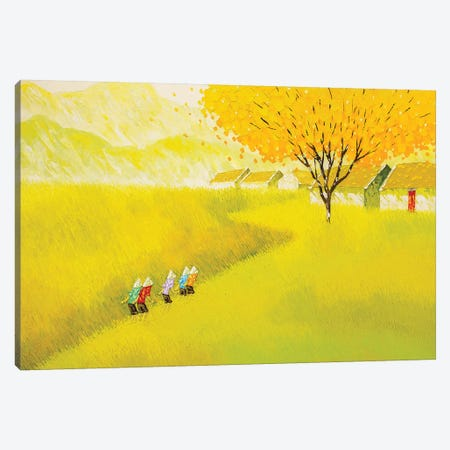 The Golden Road Canvas Print #PTT22} by Phan Thu Trang Canvas Art Print