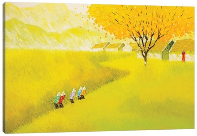 The Golden Road Canvas Art Print