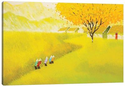 The Golden Road Canvas Art Print